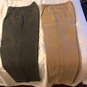 Thick khaki designer pants(comparable to Carrhart)